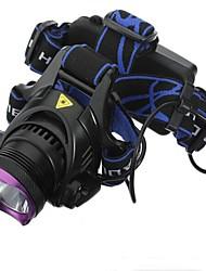 Недорогие -Налобные фонари Водонепроницаемый Перезаряжаемый 1800 lm Светодиодная лампа LED 1 излучатели 3 Режим освещения с батарейками и зарядными устройствами Водонепроницаемый Перезаряжаемый