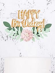 Недорогие -Украшения для торта Классика / Праздник / единорог Художественные / Ретро / Уникальный дизайн Чистая бумага День рождения с Пайетки 1 pcs Пенополиуретан