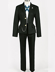 cheap -Inspired by Danganronpa Byakuya Togami Anime Cosplay Costumes Japanese Cosplay Suits British Black & White Coat Blouse Top For Men's Women's / Pants / More Accessories / Pants / More Accessories