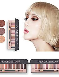cheap -12 Colors Eyeshadow Eyeshadow Palette Matte Shimmer Daily EyeShadow Matte Shimmer Protection Glitter Shine Multi-functional Best Quality Multi-tool smoky Comfortable Multi-function Daily Makeup