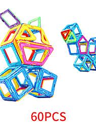 Недорогие -Магнитный конструктор Магнитные плитки 60 pcs Геометрический узор Все Мальчики Девочки Игрушки Подарок