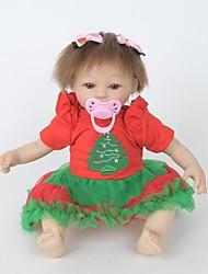 cheap -FeelWind Reborn Doll Girl Doll Baby Girl 18 inch Silicone Vinyl - lifelike Handmade Cute Kids / Teen Non-toxic Kid's Unisex Toy Gift