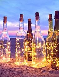 Недорогие -2 м 20-вело свет шнура медной проволоки с бутылкой пробкой для стеклянной бутылки ремесла фея валентина свадебные украшения лампы