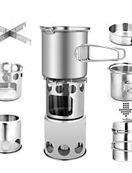 cheap -ARDI® Camping Cookware Mess Kit Camping Pot Dinnerware Set Pot Rack & Accessories Utensils Lightweight for 2 person Stainless steel Aluminium Alloy Outdoor Hiking Camping Titanium