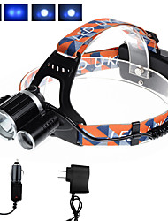 cheap -U'King Headlamps Headlight 3000 lm LED LED Emitters 4 Mode with Chargers Compact Size Easy Carrying Camping / Hiking / Caving