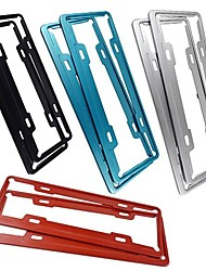 cheap -Car Stainless Steel License Plate Frame Aircraft Aluminum License Plate Frame Vehicle Administration