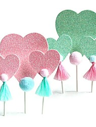 cheap -Cake Topper Classic Theme / Holiday / Unicorn Artistic / Retro / Unique Design Pure Paper Wedding / Birthday with Paillette 3 pcs OPP