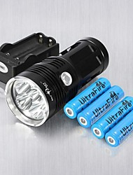 cheap -3 LED Flashlights / Torch Rechargeable 6000 lm LED 6 Emitters Rechargeable Impact Resistant Strike Bezel Camping / Hiking / Caving Everyday Use Cycling / Bike / Aluminum Alloy
