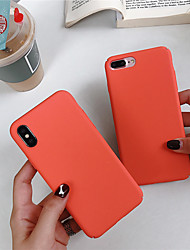 cheap -Case For Apple iPhone XS / iPhone XR / iPhone XS Max Frosted / Pattern Back Cover Solid Colored Hard PC