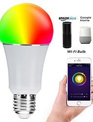 cheap -E27 7W LED Smart WIFI Bulbs Beads SMD 5730 Works With Amazon Alexa / APP Control / Google Home RGBW 85-265V