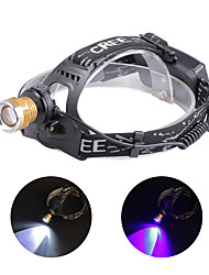 cheap -U'King Headlamps Headlight 1200 lm LED LED 2 Emitters 4 Mode with Batteries and Charger Zoomable Adjustable Focus Compact Size Counterfeit Detector High Power Easy Carrying Camping / Hiking / Caving