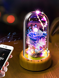 cheap -1pc LOVE Table Night Lamp Yellow / Purple Other Battery Powered Bluetooth / Rechargeable / Romantic 5 V