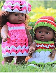 cheap -KIDDING Reborn Doll Girl Doll Baby Girl African Doll 24 inch Full Body Silicone Silicone Vinyl - lifelike Handmade Cute Kids / Teen Kid's Unisex Toy Gift