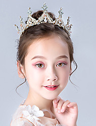 cheap -Princess Elsa Anna Tiaras Forehead Crown Halloween New Year's Imitation Pearl Rhinestones Alloy For Christmas Halloween Masquerade Girls' Costume Jewelry Fashion Jewelry / Headwear / Headwear
