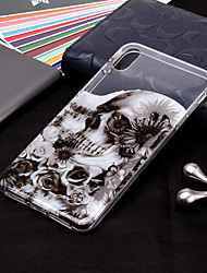 cheap -Case For Apple iPhone XS / iPhone XR / iPhone XS Max Transparent / Pattern Back Cover Skull Soft TPU