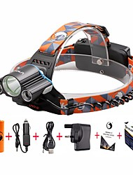 cheap -U'King Headlamps Headlight Mini 3000 lm LED LED 3 Emitters 4 Mode with Batteries and Charger Mini Easy Carrying Camping / Hiking / Caving Everyday Use Cycling / Bike / Aluminum Alloy