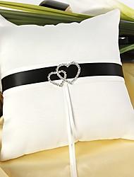 cheap -Silk Like Satin Acrylic Diamond / Satin Bow Satin Ring Pillow Wedding All Seasons