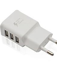 Недорогие -Портативное зарядное устройство / Беспроводное зарядное устройство Зарядное устройство USB Евро стандарт Нормальная 3 USB порта 2 A DC 5V для