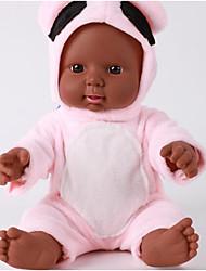 cheap -KIDDING Reborn Doll Girl Doll Baby Boy Baby Girl African Doll 24 inch Full Body Silicone Silicone Vinyl - lifelike Handmade Cute Kids / Teen Kid's Unisex Toy Gift