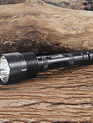 cheap -Trustfire LED Flashlights / Torch 2400 lm LED LED 3 Emitters 5 Mode Camping / Hiking / Caving Everyday Use Black / Aluminum Alloy