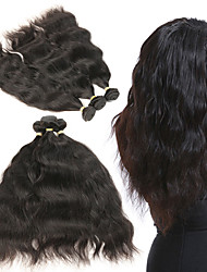 cheap -3 Bundles Brazilian Hair Natural Wave Remy Human Hair Human Hair Extensions 8-22 inch Human Hair Weaves Soft Best Quality New Arrival Human Hair Extensions