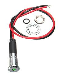 cheap -12V 8mm LED Metal Dash Pilot Panel Indicator Warning Light Lamp Car Motorcycle Boat Marine