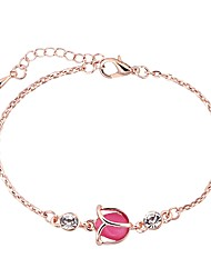 cheap -Women's Handmade Link Bracelet Single Strand Stylish Alloy Bracelet Jewelry Silver / Rose Gold For Daily Formal Festival