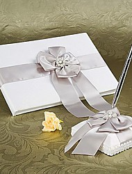 cheap -Guest Book / Pen Set Wedding With Crystal / Rhinestone / Ruche Guest Book / Pen Set