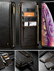 cheap -CaseMe Case For Apple iPhone XS / iPhone XR / iPhone XS Max Wallet / Card Holder / with Stand Full Body Cases Solid Colored Hard PU Leather