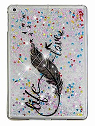 cheap -Case For Apple iPad Air / iPad (2018) / iPad Air 2 Flowing Liquid / Pattern Back Cover Feathers / Glitter Shine Hard PC / iPad (2017)