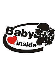 cheap -19x11cm Baby on Board Reflective Car Stickers Auto Truck Vehicle Motorcycle Decal