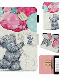 cheap -Case For Amazon Kindle PaperWhite 4 Card Holder / Shockproof / Pattern Full Body Cases Animal Hard PU Leather