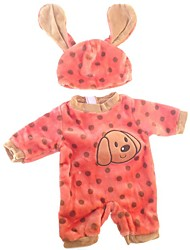 cheap -Doll accessories Reborn Doll Reborn Toddler Doll Dog Baby Girl Cute Kids / Teen Plush Kids Unisex Toy Gift 2 pcs