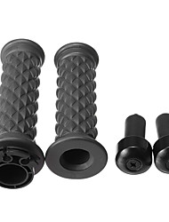 cheap -7/8inch 22mm Motorcycle Rubber Handlebar Hand Grips For Cafe Racer Bobber Clubman