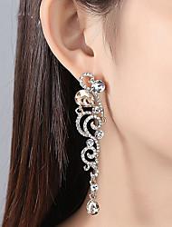 cheap -Women's Clear Cubic Zirconia Earrings Long Stylish Earrings Jewelry Gold / Silver For Wedding Party 1 Pair