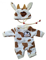 cheap -Doll accessories Reborn Doll Reborn Toddler Doll Cow Baby Boy Cute Kids / Teen Plush Kids Baby Unisex Toy Gift 2 pcs