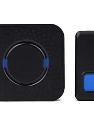 Недорогие -новый дверной звонок беспроводной один к одному дверной звонок музыка дин дон невизуальный дверной звонок простой черный 300м
