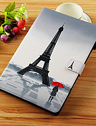 cheap -Case For Apple iPad Mini 5 / iPad New Air(2019) / iPad Air Wallet / Card Holder / with Stand Full Body Cases Eiffel Tower Hard PU Leather / iPad Pro 10.5 / iPad (2017)