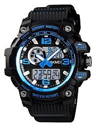 cheap -SKMEI Men's Sport Watch Military Watch Digital Watch Digital Casual Alarm Silicone Black / Brown / Green Analog - Digital - Black / Blue Black Fuchsia One Year Battery Life / Chronograph / Stopwatch