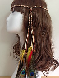 cheap -American Indian Headdress Adults' Bohemian Style Women's Beige / Brown Feather / Polyster Party Cosplay Accessories Halloween / Carnival / Masquerade Costumes / Female