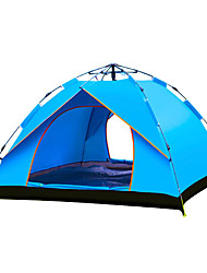cheap -TANXIANZHE® 3 person Automatic Tent Outdoor Windproof Rain Waterproof Breathability Single Layered Automatic Camping Tent 2000-3000 mm for Beach Camping / Hiking / Caving Traveling PU (Polyurethane)