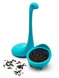 Недорогие -3 цвета чай для заварки воды монстр форма силиконовые ситечко для чая ситечко для заварки