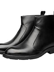 Недорогие -Муж. Комфортная обувь Кожа Зима Ботинки Ботинки Черный / Армейские ботинки