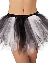 cheap -Ballet Tutu Bubble Skirt Under Skirt 1950s Layered Black & White Petticoat / Crinoline