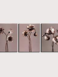 cheap -Print Rolled Canvas Prints Stretched Canvas Prints - Still Life Floral / Botanical Modern Three Panels Art Prints
