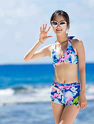 cheap -SANQI Women's Two Piece Swimsuit Swimwear Quick Dry Sleeveless 2-Piece - Swimming Water Sports Patchwork Summer