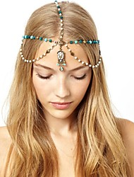 cheap -American Indian Headdress Adults' Bohemian Style / Vacation Dress Women's Green Artificial Gemstones / Alloy Party Cosplay Accessories Halloween / Carnival / Masquerade Costumes / Headwear / Female