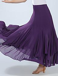 cheap -Ballroom Dance Bottoms Women's Training / Performance Spandex Ruching High Skirts