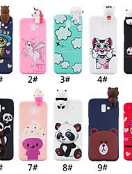 cheap -Phone Case For Samsung Galaxy Back Cover J7 J7 (2016) J6 Plus J5 J5 (2016) J4 Plus J3 J3 (2016) Shockproof Frosted Pattern Cartoon 3D Cartoon Animal Soft TPU