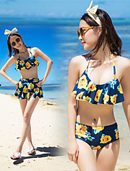 cheap -SANQI Women's Two Piece Swimsuit Swimwear Quick Dry Sleeveless 3-Piece - Swimming Water Sports Patchwork Summer